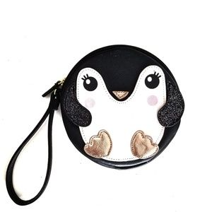 NWT Luv Betsey Johnson Penguine coin purse
